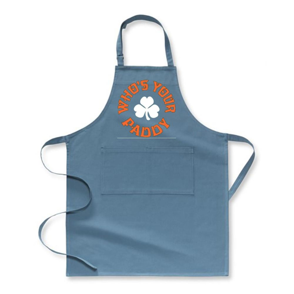 Whos Your Paddy V2 Irish Clover Apron - Hoki / Polyster - Productgenjpg