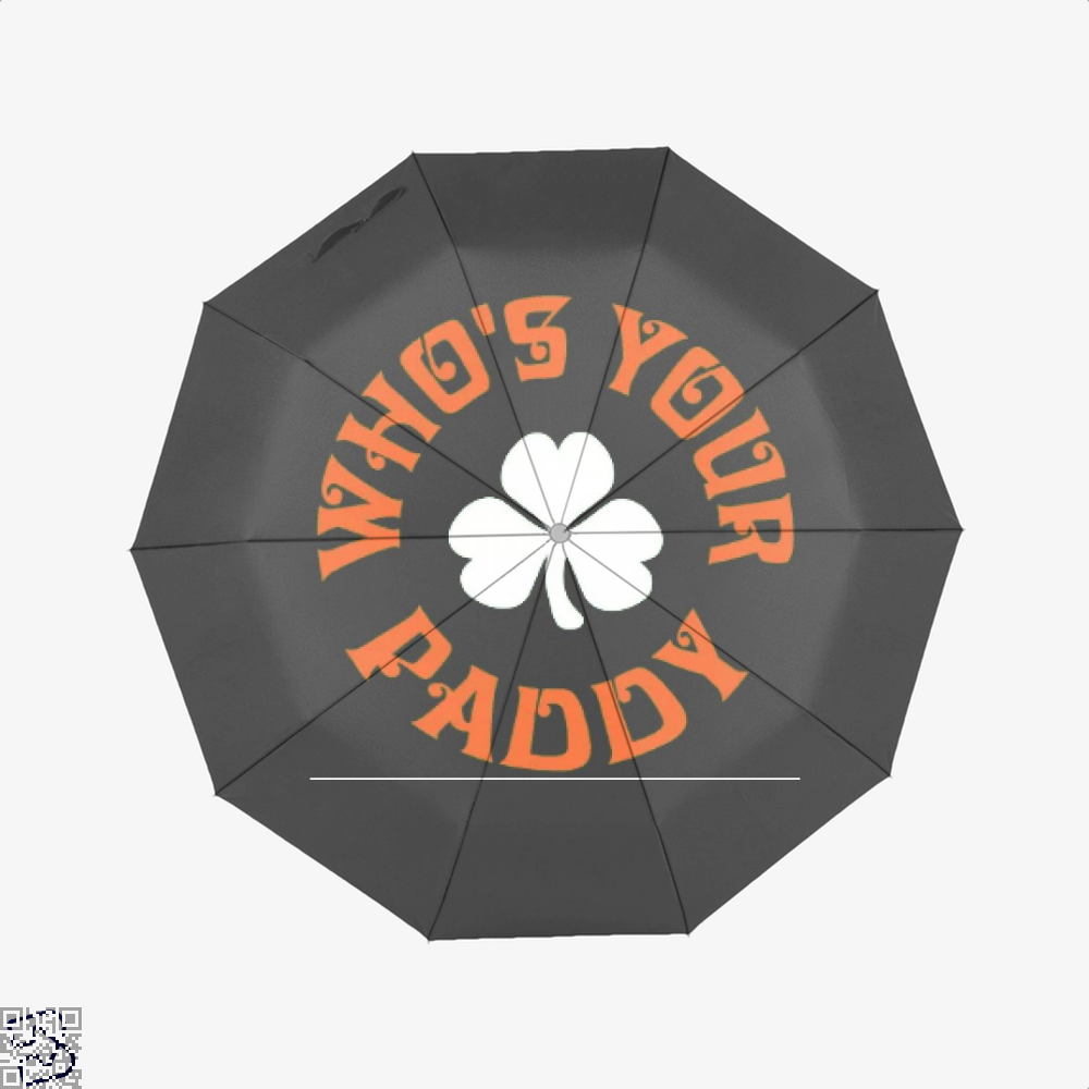 Whos Your Paddy V2 Irish Clover Umbrella - Black - Productgenjpg