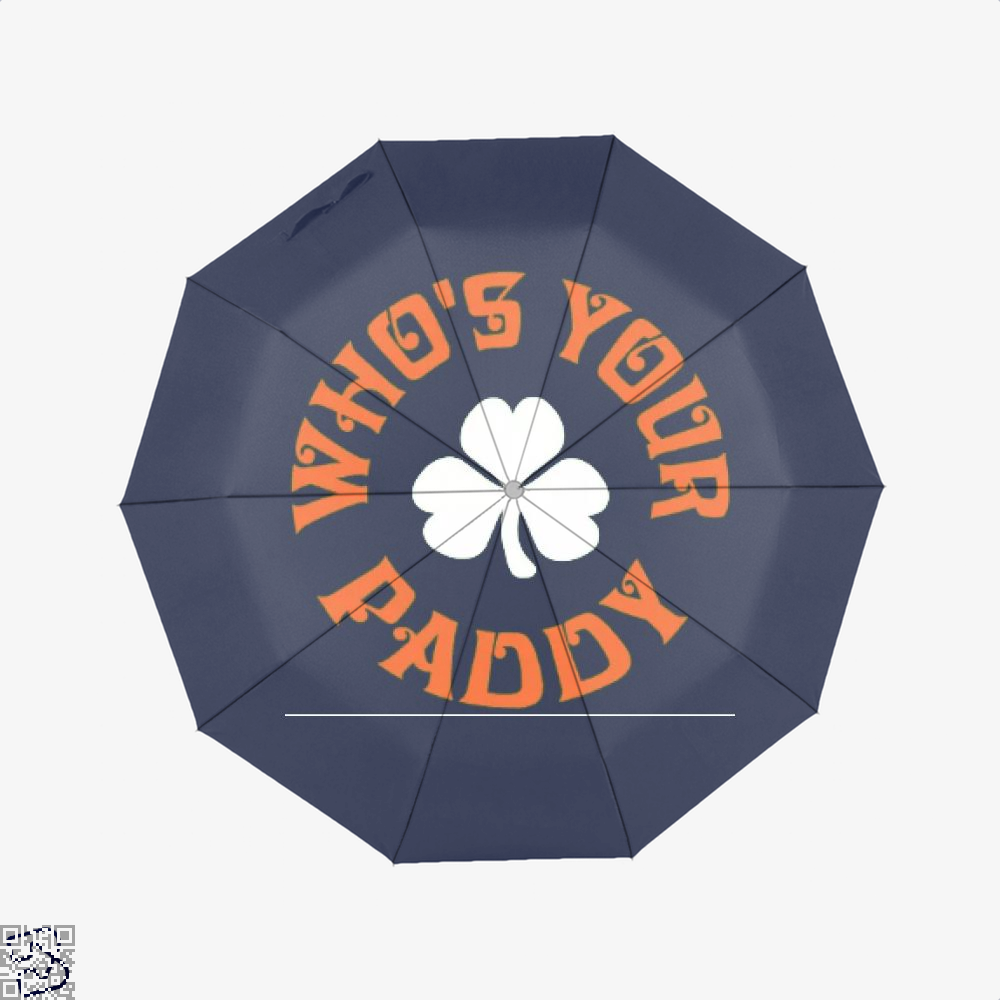 Whos Your Paddy V2 Irish Clover Umbrella - Blue - Productgenjpg