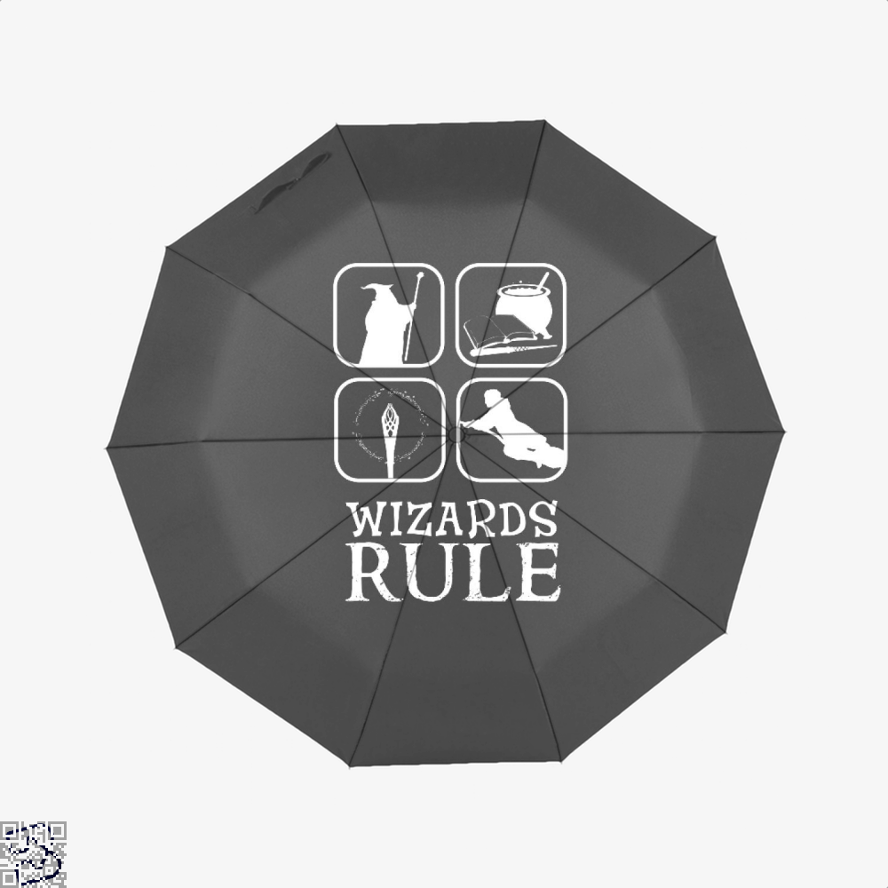Wizards Rule Lord Of The Rings Umbrella - Black - Productgenapi
