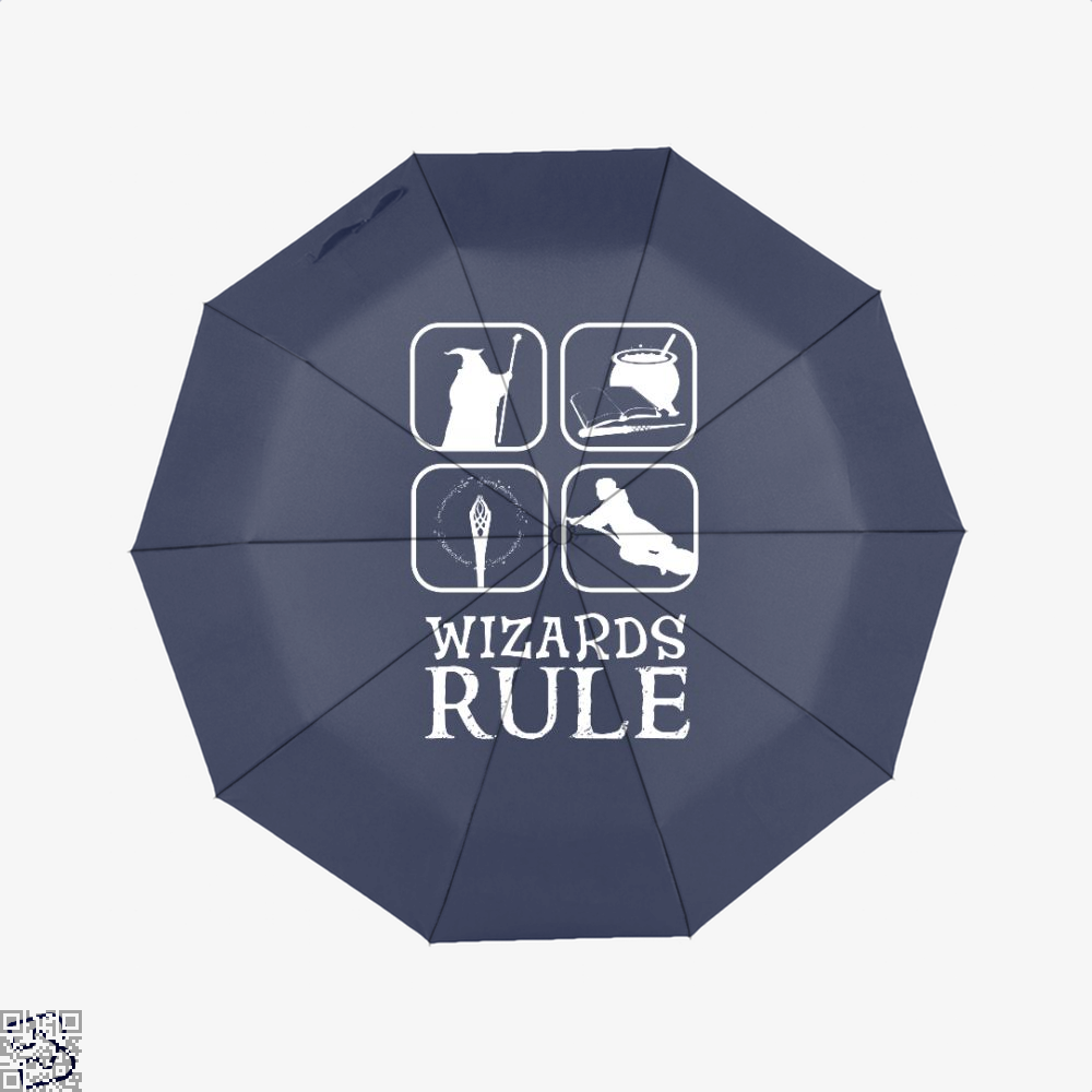 Wizards Rule Lord Of The Rings Umbrella - Blue - Productgenapi