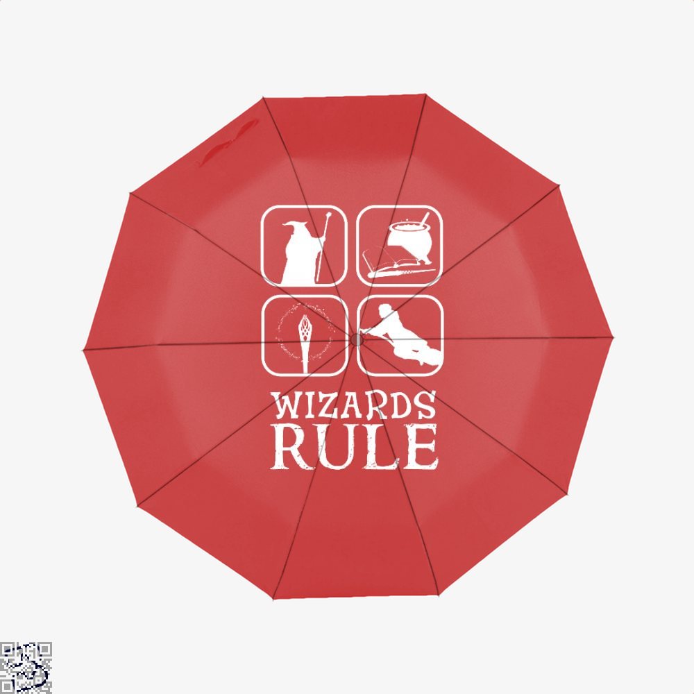 Wizards Rule Lord Of The Rings Umbrella - Red - Productgenapi