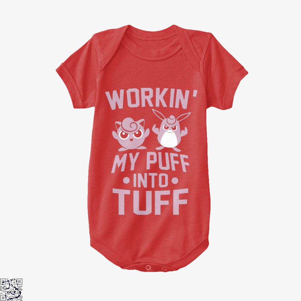 Workin My Puff Into Tuff Pokemon Baby Onesie - Red / 0-3 Months - Productgenapi