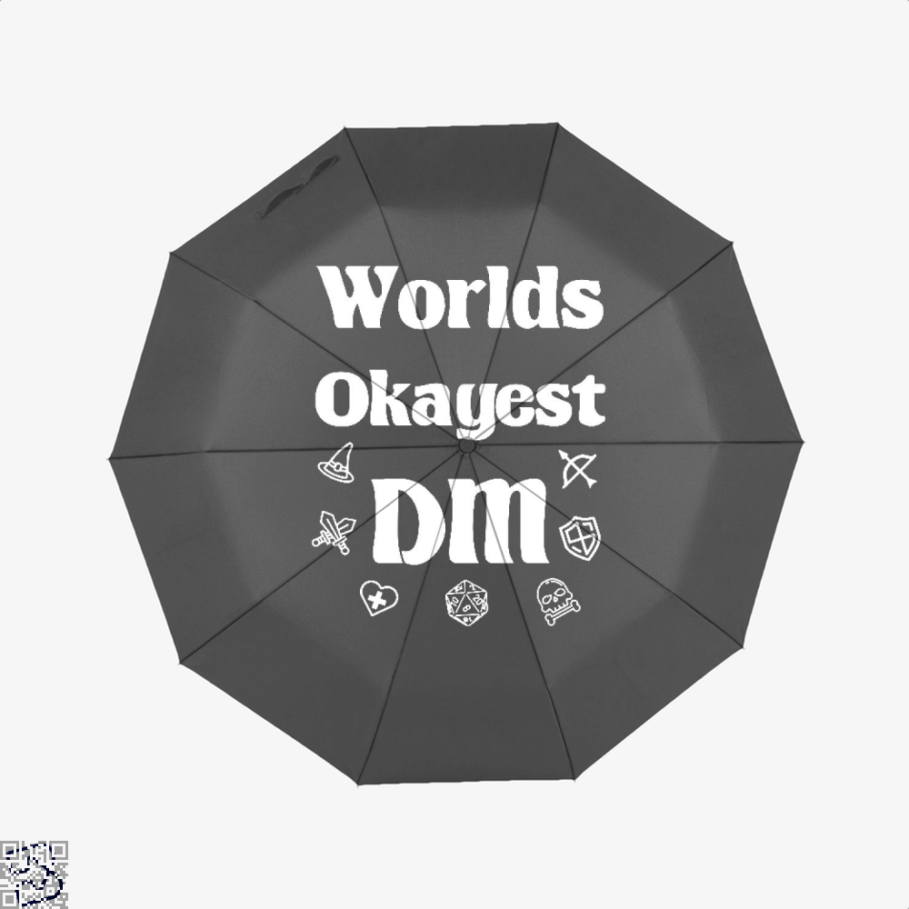 Worlds Okayest Dm Dragon And Dungeon Umbrella - Black - Productgenjpg