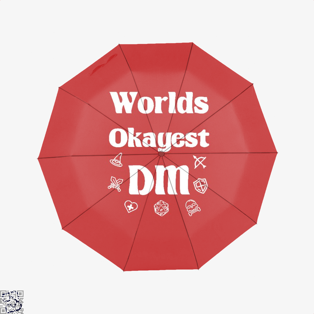 Worlds Okayest Dm Dragon And Dungeon Umbrella - Red - Productgenjpg