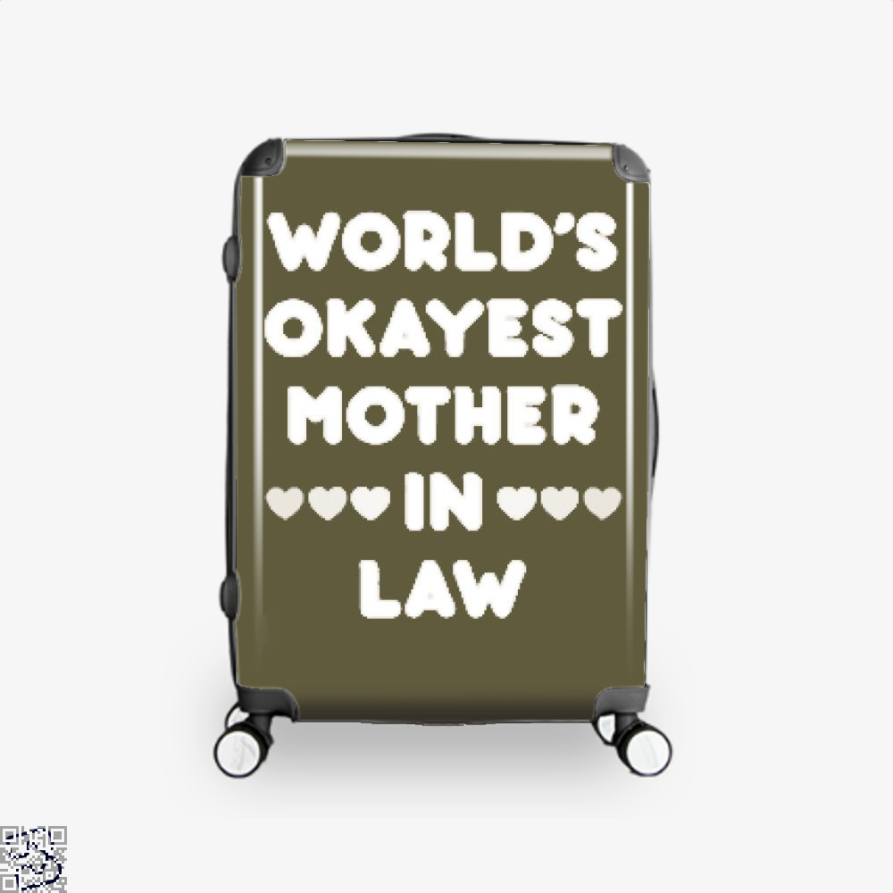 Worlds Okayest Mother In Law Mothers Day Suitcase - Brown / 16 - Productgenjpg