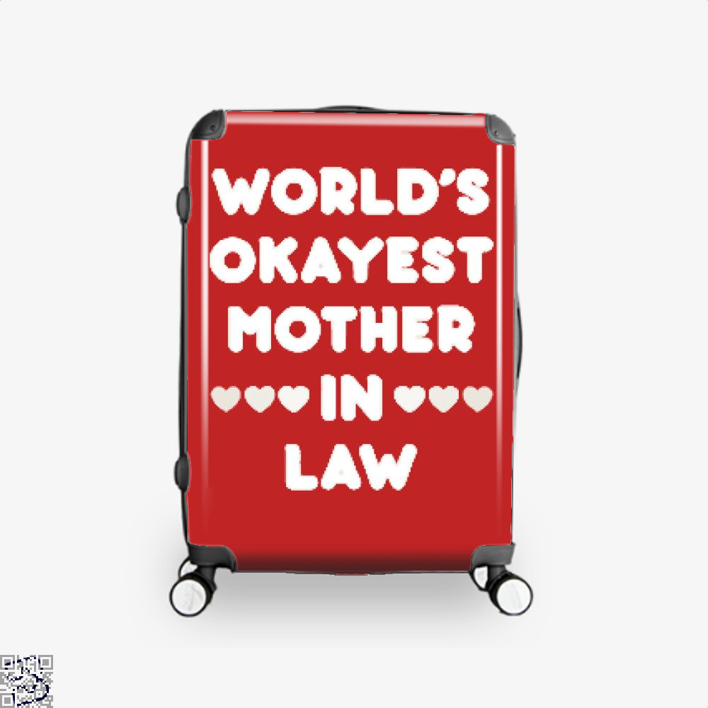 Worlds Okayest Mother In Law Mothers Day Suitcase - Red / 16 - Productgenjpg