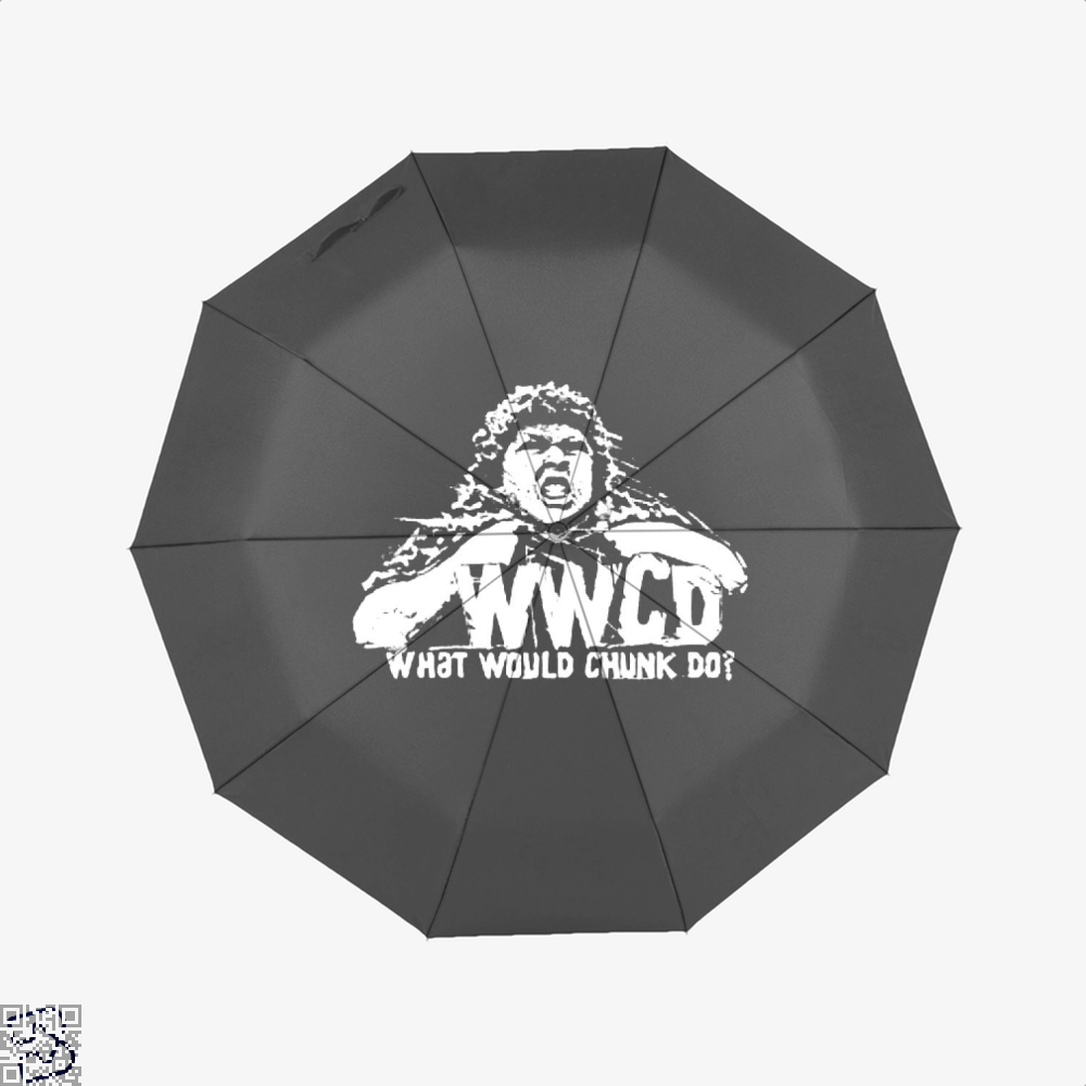 Wwcd What Would Chunk Do The Goonies Umbrella - Black - Productgenapi