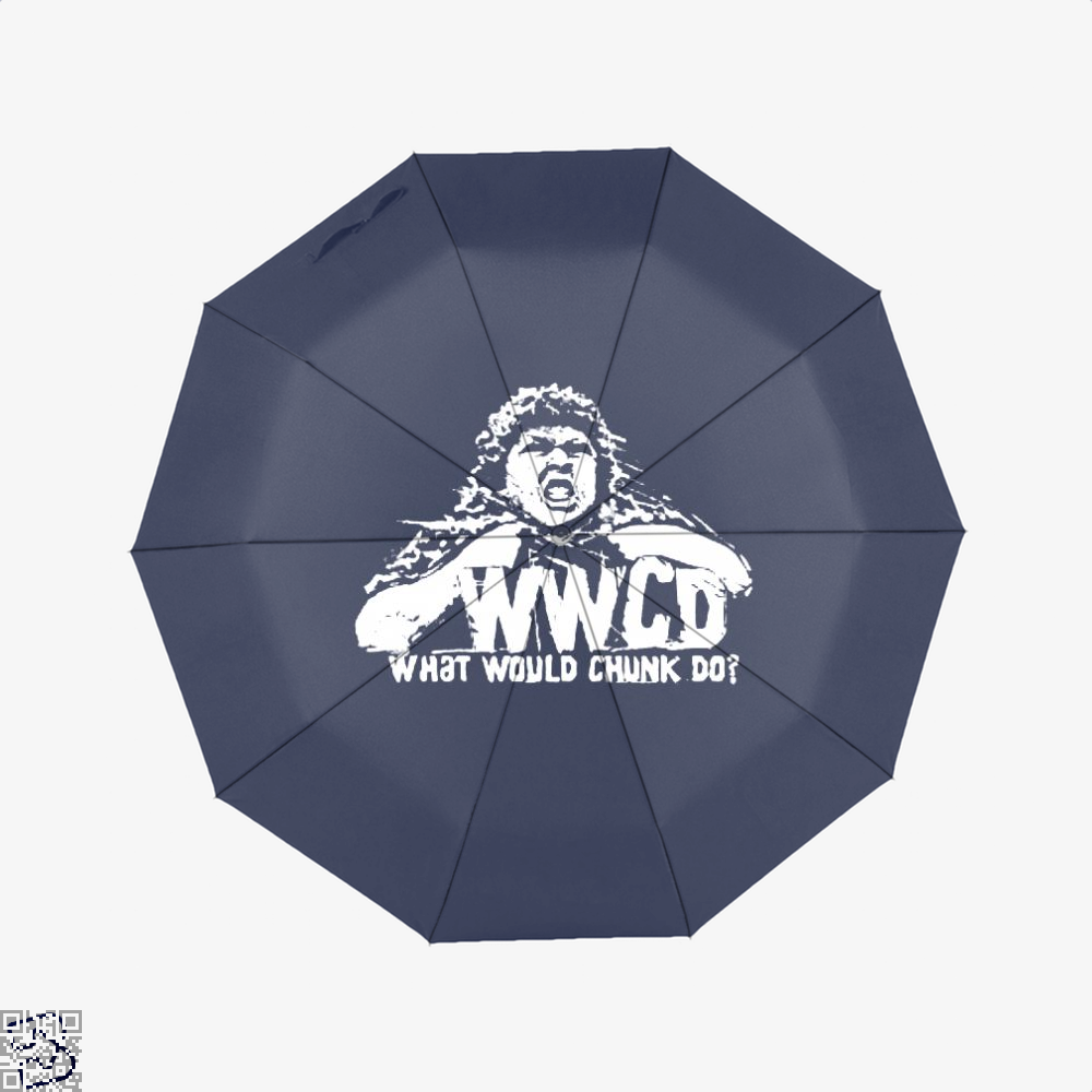 Wwcd What Would Chunk Do The Goonies Umbrella - Blue - Productgenapi