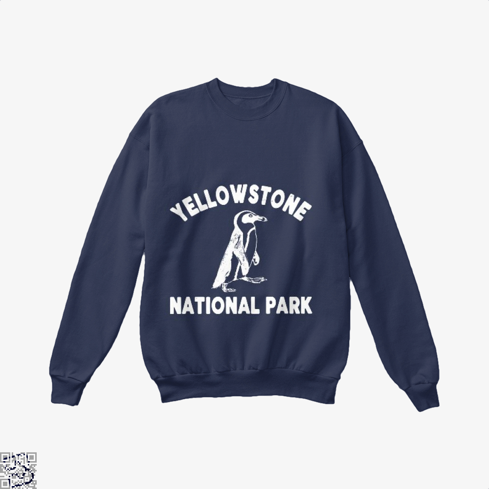Yellowstone National Park Burlesque Crew Neck Sweatshirt - Blue / X-Small - Productgenjpg