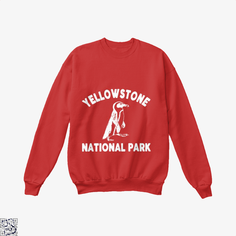 Yellowstone National Park Burlesque Crew Neck Sweatshirt - Red / X-Small - Productgenjpg