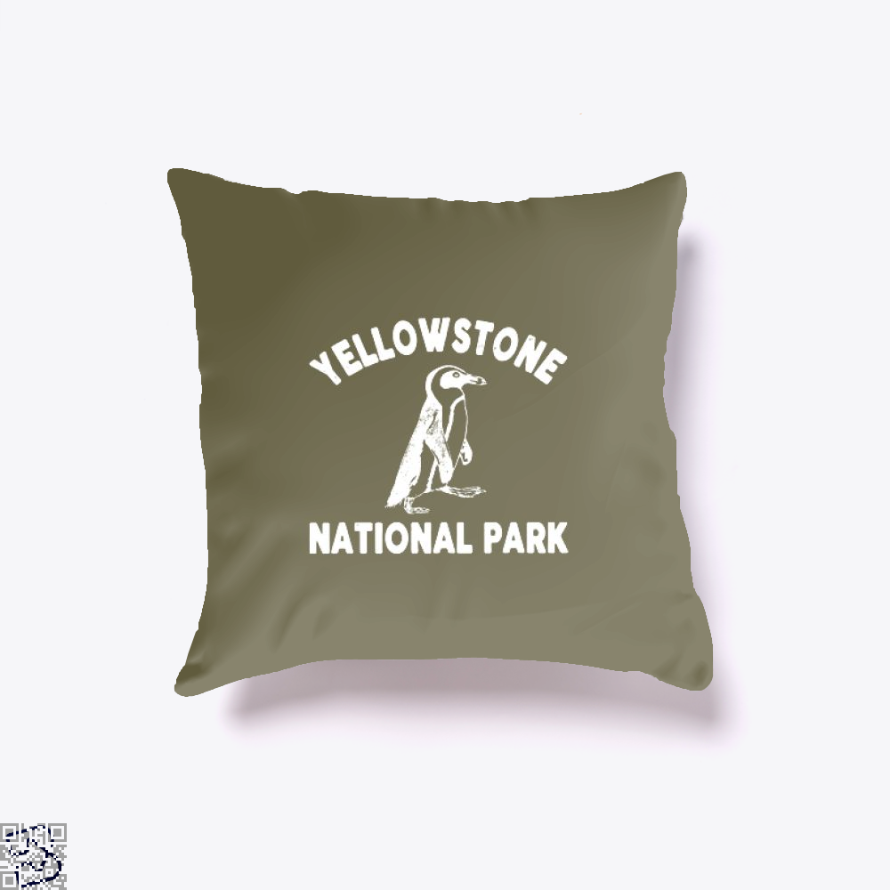 Yellowstone National Park Burlesque Throw Pillow Cover - Brown / 16 X - Productgenjpg