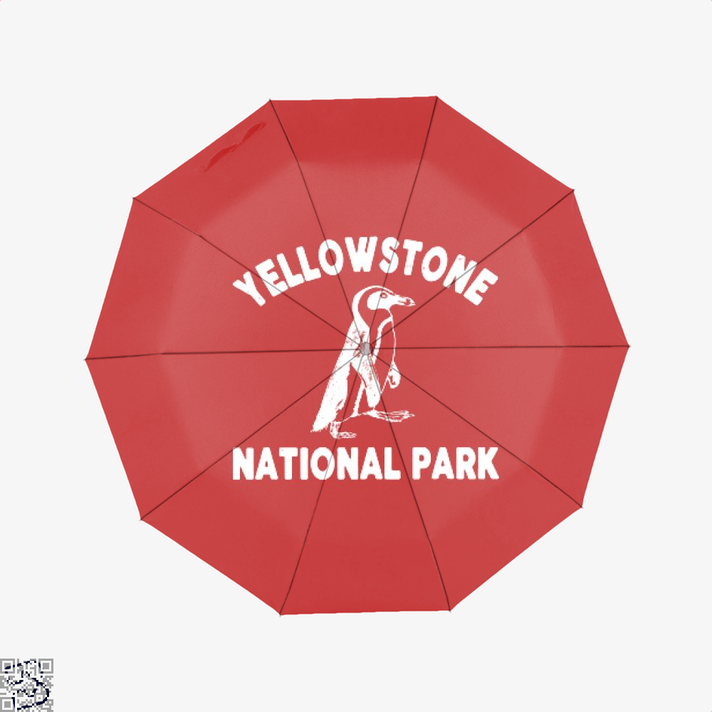 Yellowstone National Park Burlesque Umbrella - Red - Productgenjpg