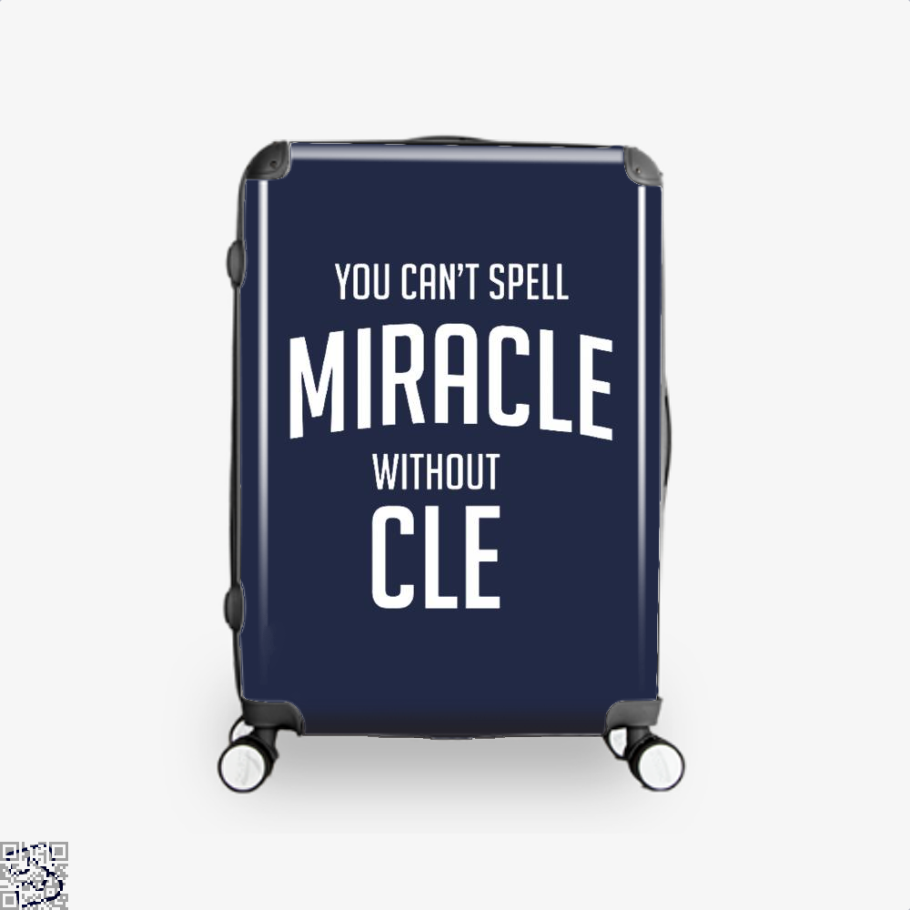 You Cant Spell Miracle Without Cle Cavs Suitcase - Blue / 16 - Productgenapi