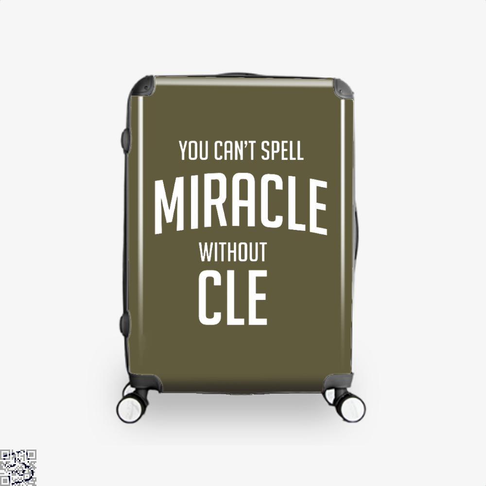 You Cant Spell Miracle Without Cle Cavs Suitcase - Brown / 16 - Productgenapi