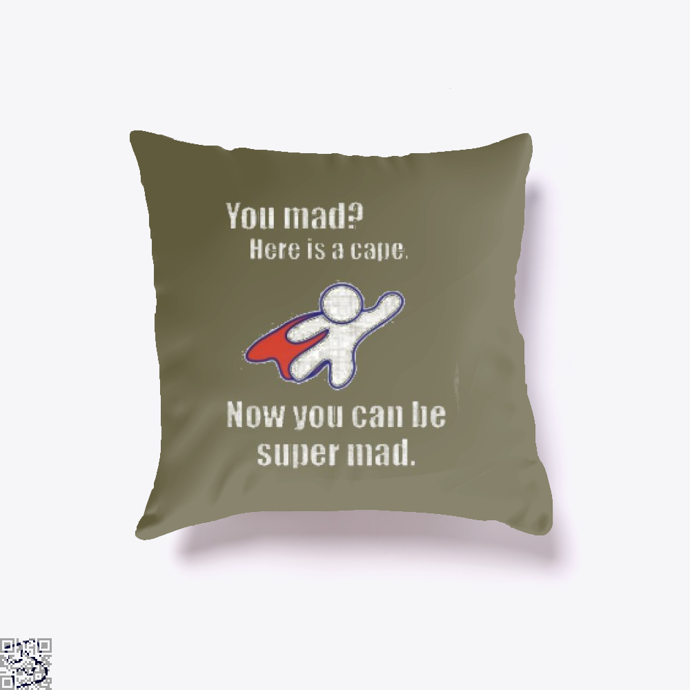 You Mad Here Is A Cape Epigrammatic Throw Pillow Cover - Brown / 16 X - Productgenjpg