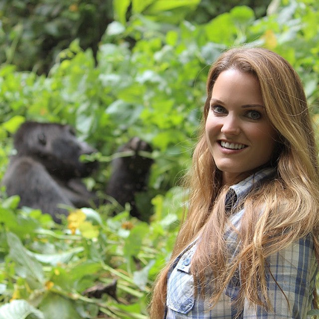 catherine with mountain gorilla