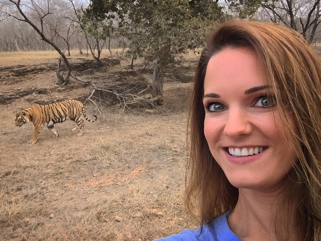 catherine with tiger