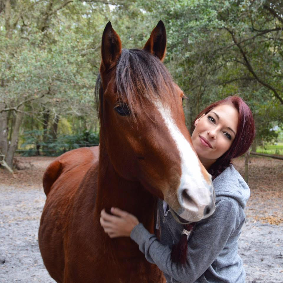 jenna with a rescue horse