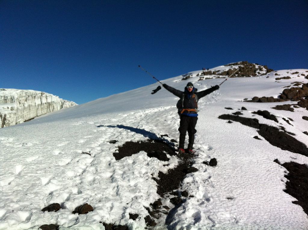 Headed toward the summit of Mt. Kilimanjaro