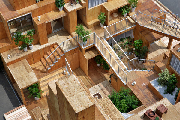 prototype for a shared living space for the Tokyo real estate company Daito Trust Constru designed by Sou Fujimoto