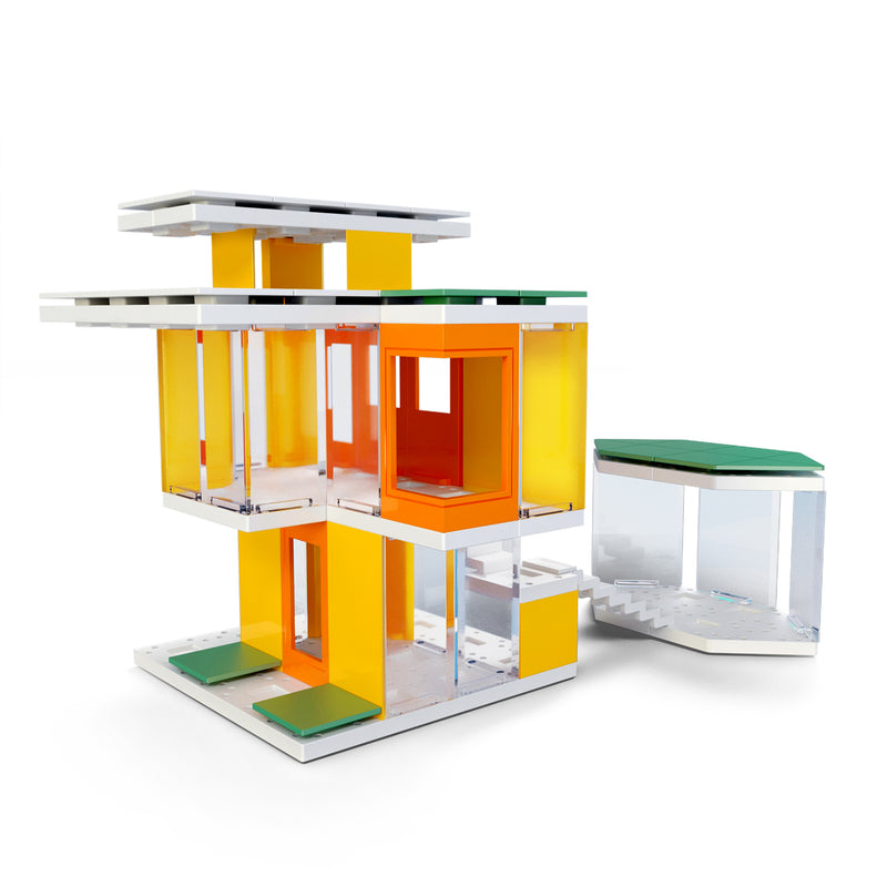 Mini Modern Colours 2.0, Kids Architect Scale Model House Building Kit