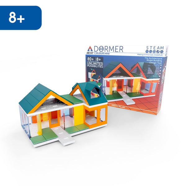 Mini Dormer Colours 2.0, Kids Architect Scale House Model Building kit