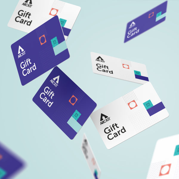Gift cards from Arckit, architectural model kits