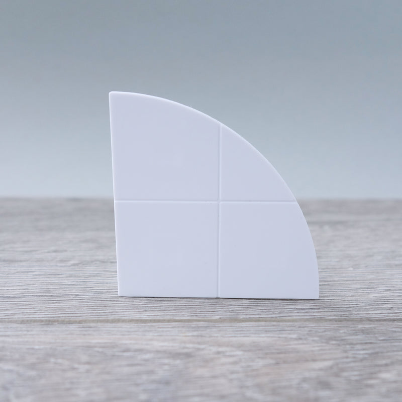 Two-by-Two White Curved Smooth Finish Floor or Roof Tiles 5.07