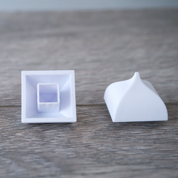 One-by-One White Dome Square Shaped Tile 6.10