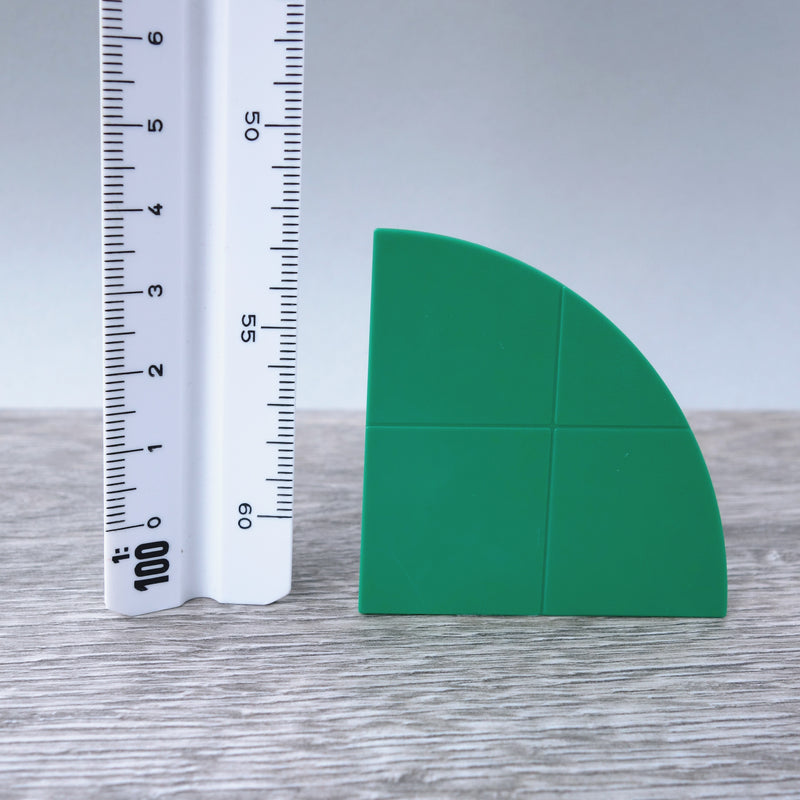 Two-by-Two Green Curved Smooth Finish Floor or Roof Tiles 5.07