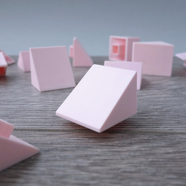 One-by-One Pink High Angled Tile 6.14