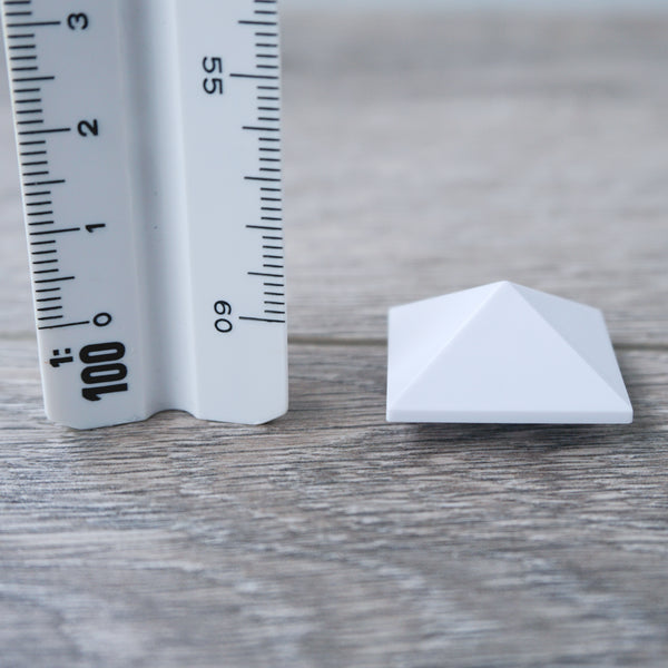 One-by-One White Pyramid Shaped Tile 6.05