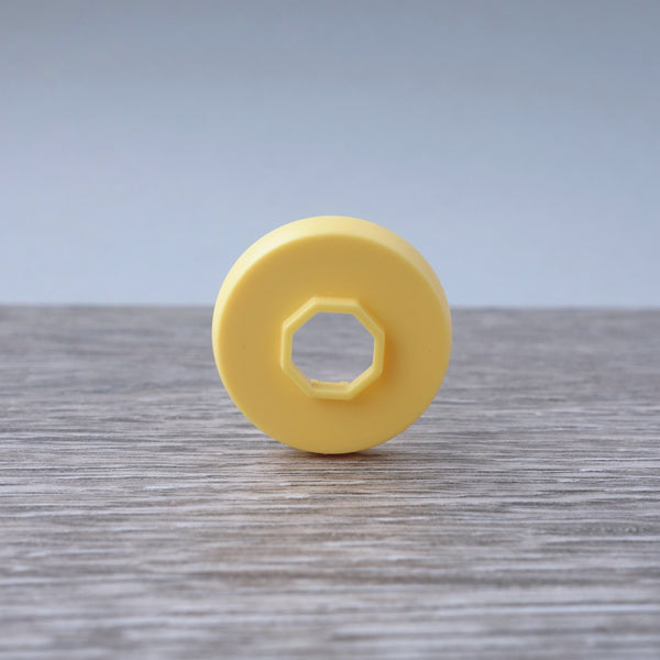 One-by-One Yellow Circular Shaped Tile 6.12