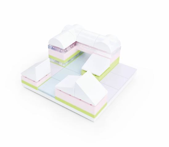 Tiny Town 2 Marina,  40 piece Architectural Model Kit