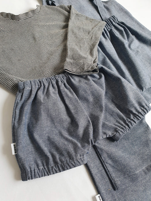 Sophie + Co/Baba of Mine Collab - Chambray Denim Bloomers