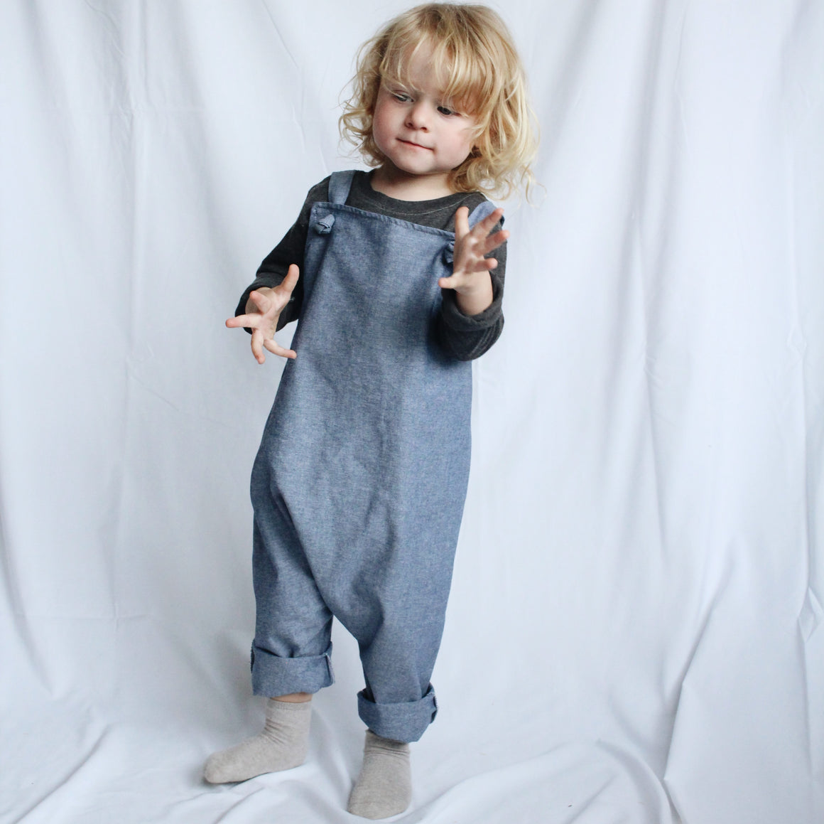 Sophie + Co/Baba of Mine Collab - Chambray Denim Dungarees