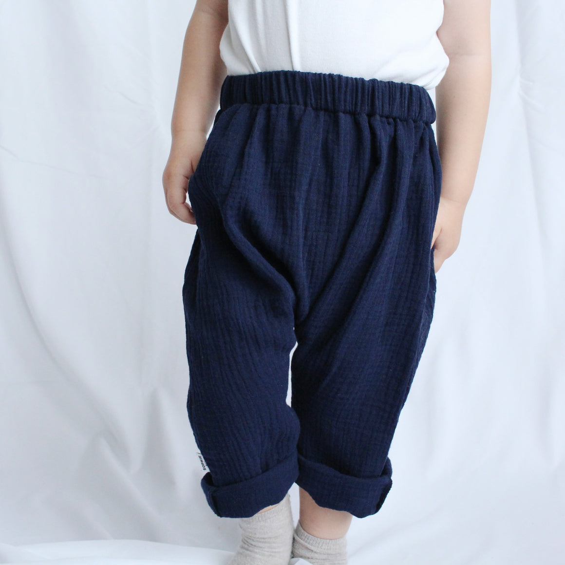 Sophie + Co/Baba of Mine Collab - Navy Cotton Loose Fits