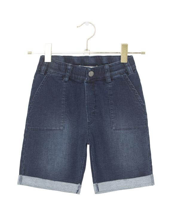 A MONDAY IN COPENHAGEN - MORGAN DENIM LOOK SHORTS