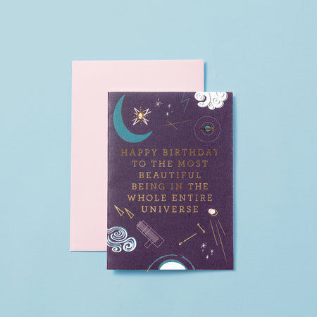 HAPPY BIRTHDAY BEAUTIFUL BEING - GREETINGS CARD