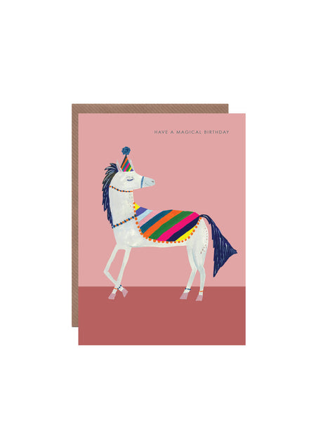 Magical Rainbow Horse birthday card