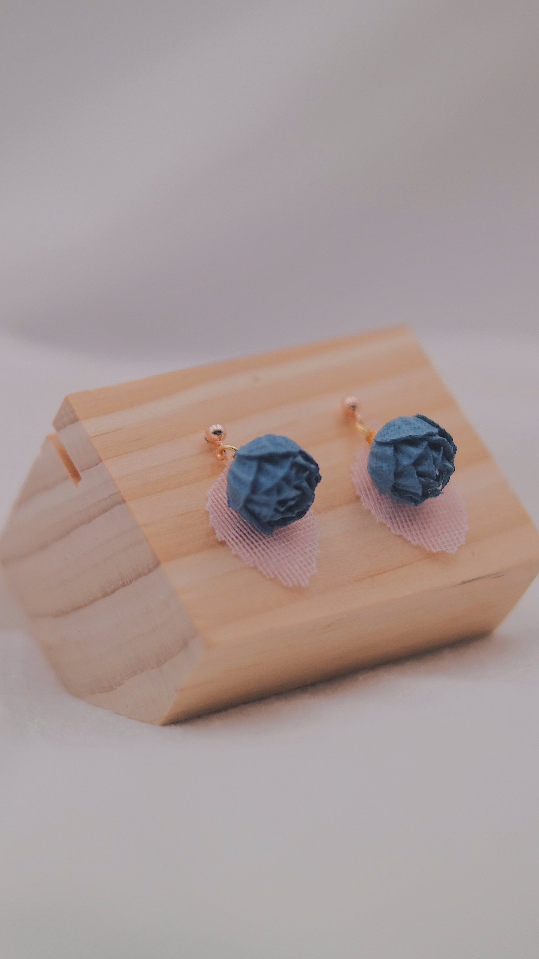 AZURE Rose Studs - Teal Green