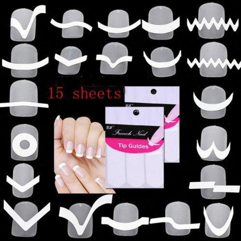 15pcs Transfer Stickers Design Manicure Art - AndreaLima