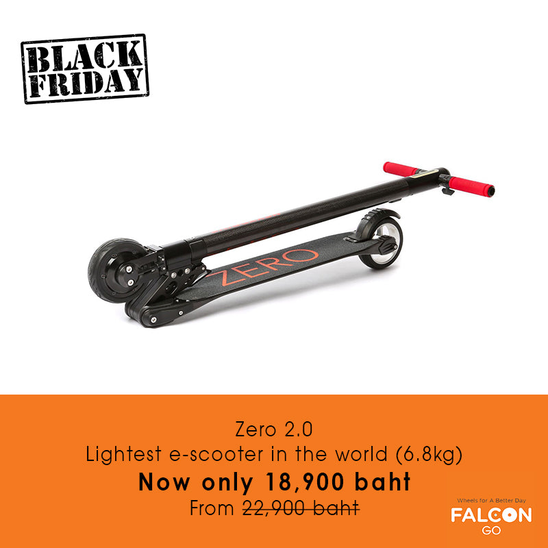 Zero 2.0 Lightest e-scooter Black Friday Sale