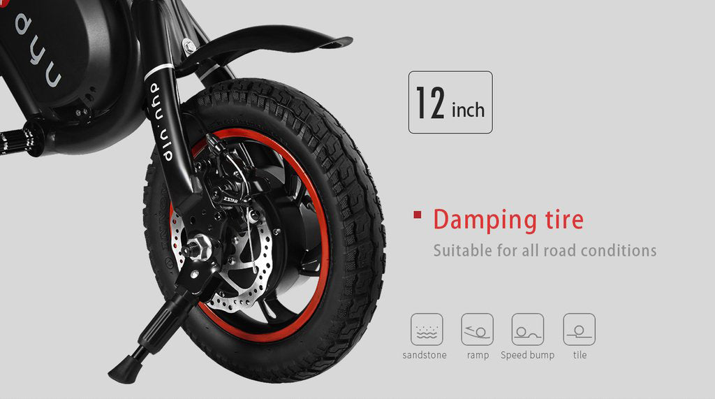DYU electric bike scooter large wheels tires tyres