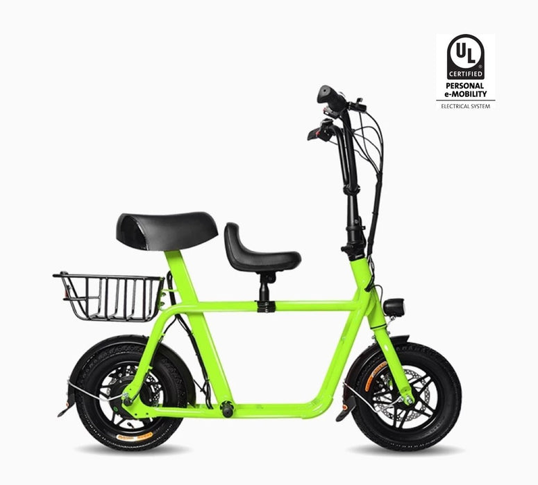 Fiido Q1 e-scooter neon green colour
