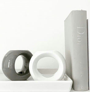 Wax Melt Burner - Gloss Grey Oslo