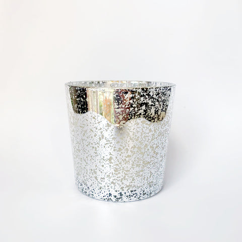 Electroplated three wick candle