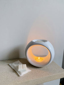 Wax Melt Burner - Gloss White Oslo - Solu Candles