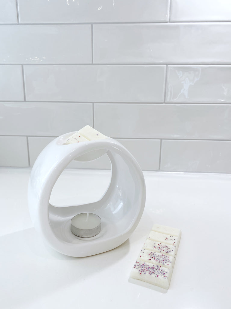 Wax Melt Burner - Gloss White Porto